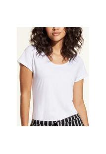 Camiseta Liz Easywear Manga Curta Branco