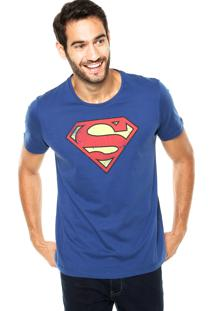 Camiseta Fashion Comics Chemisier Super-Homem Azul