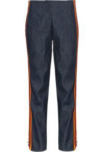 Calvin Klein 205W39Nyc Calça Jeans Slim Com Cintura Alta - Azul