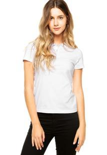 Camisa Polo Malwee Básica Branca