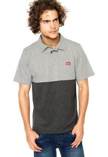 Camisa Polo Hang Loose Tips Cinza