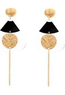 Brinco Le Diamond Formas Geomã©Tricas Dourado - Dourado - Feminino - Dafiti