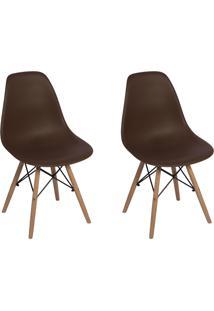 Cadeira E Banco De Jantar Impã©Rio Brazil Charles Eames Eiffel - Incolor/Marrom - Dafiti