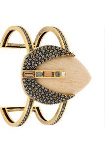 Camila Klein Bracelete Pedra Natural - Dourado