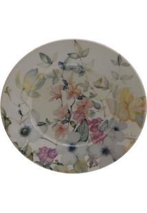 Prato De Sobremesa Em Cerâmica Floreale 20Cm Colorido