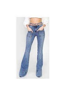 Calça Jeans Lança Perfume Flare Atena Azul