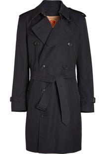 Burberry Cotton Gabardine Trench Coat With Warmer - Azul