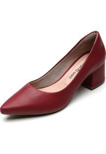 Scarpin Dafiti Shoes Liso Vinho