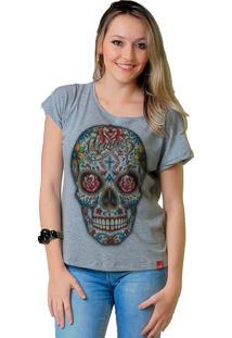 Camiseta Wevans Caveira Cinza