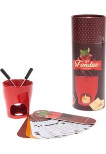 Utilidade Zonacriativa Kit Fondue Vermelho