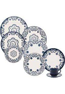 Aparelho De Jantar E Chá 30 Peças Em Cerâmica Floreal Energy - Oxford Daily
