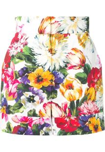 Dolce & Gabbana Floral-Print Shorts - Branco