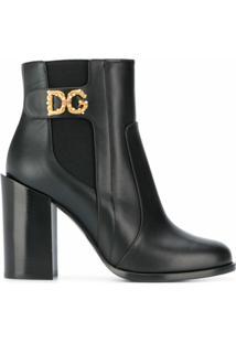 Dolce & Gabbana Bota Com Aplicações - Preto