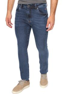 Calça Jeans Timberland Slim Estonada Azul
