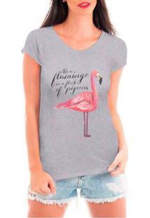 Camiseta Criativa Urbana Flamingo Feminina - Feminino