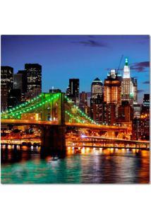 Quadro Impressão Digital Nova York Ponte Colorido 45X45 Uniart