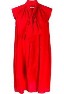 Givenchy Vestido Casual Com Pregas - Vermelho