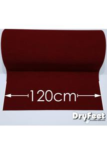 Tapete Dryfeet Vermelho 120Cm De Largura Por Até 10 Metros De Comprimento