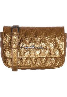 Bolsa Em Couro Bronze