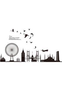 Adesivo Para Parede London Urban 60X90Cm Com 1 Peça