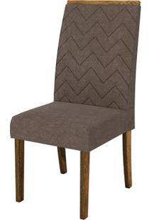 Cadeira Áurea 2 Peças - Demolição Com Pena Marrom