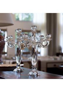 Castiçal De Cristal Moss – 5 Velas