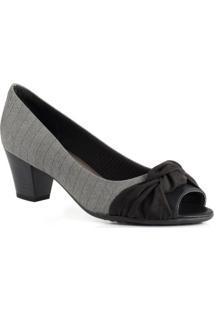 10db17bbbf Mundo das Botas. Sapato Feminino Piccadilly Peep Toe