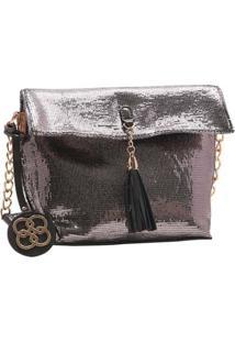 Bolsa Feminina Chenson Metalizado Glam Prata 3483186
