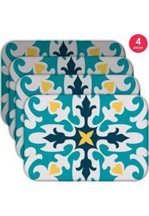 Jogo Americano Love Decor Mandala Kit Com 4 Peças