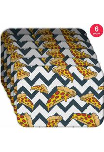 Jogo Americano Love Decor Wevans Pizza Geometric Kit Com 6 Pçs