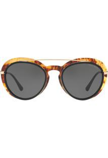 294cf2188f153 ... Giorgio Armani Aviator Tortoiseshell Sunglasses - Dourado