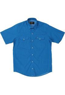 Camisa Manga Curta Fast Back Masculina - Masculino-Azul