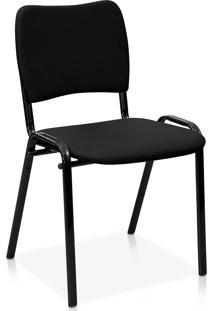 Cadeira Fixa Estofada Atena S/ Braã§Os La Preta - Preto - Dafiti