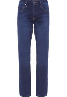 Calça Masculina Jeans Five Pockets Straight - Azul