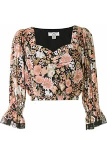 We Are Kindred Blusa Cropped Jessa Com Estampa Floral - Rosa