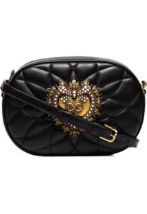 Dolce & Gabbana Devotion Quilted Camera Bag - Preto