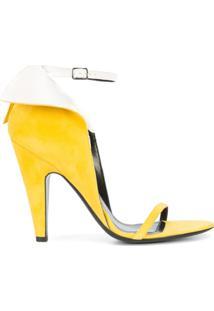 Calvin Klein 205W39Nyc Sandália De Camurça - Amarelo