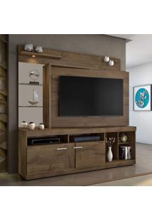 Estante Home Para Tv Até 55 Polegadas Brasil Candian Jcm Móveis Cacau