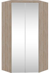 Guarda-Roupa Canto Closet Virtual 2 Portas Com Espelho E Gavetas Cedro Robel - Marrom - Dafiti