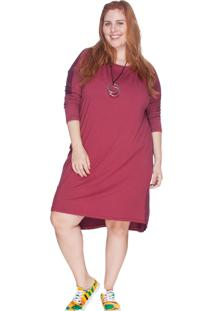 Vestido Mullet Bold Plus Size Vermelho