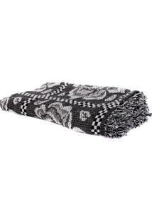 Cobertor Casal King Preto Com Branco 100% Algodão Redes De Dormir