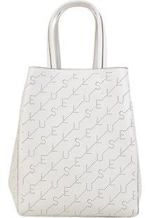 Bolsa Ellus Shopping Bag Dupla Face Feminina - Feminino-Branco