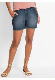 Short Jeans Azul Médio