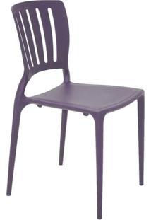 Cadeira Com Encosto Vazado Sofia Summa Lilás