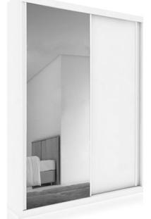 Armário, 2 Portas De Correr E 1 Espelho, Branco Acetinado, Enzo Ii