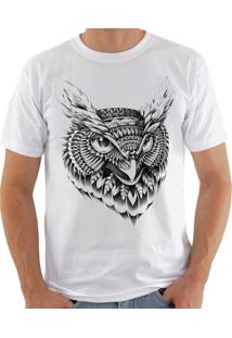 Camiseta Shirt Deads Coruja Tribal 2 Madboss Branca