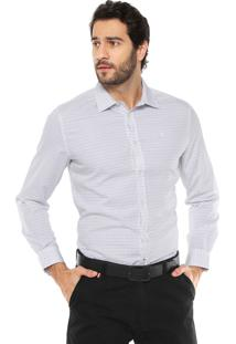 Camisa Forum Padronagem Branca