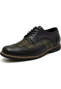 Sapato Oxford Shoes Gran Chess - Masculino-Preto