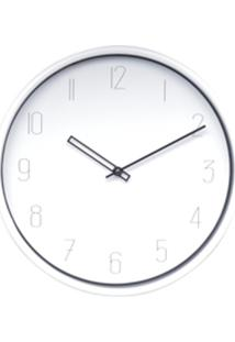 Relógio Parede Plástico Elegant Round Branco 25,4X4X25,4 Cm Urban