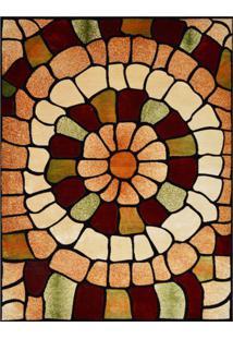 Tapete Marbella Catedral Retangular (200X250Cm) Caramelo E Creme
